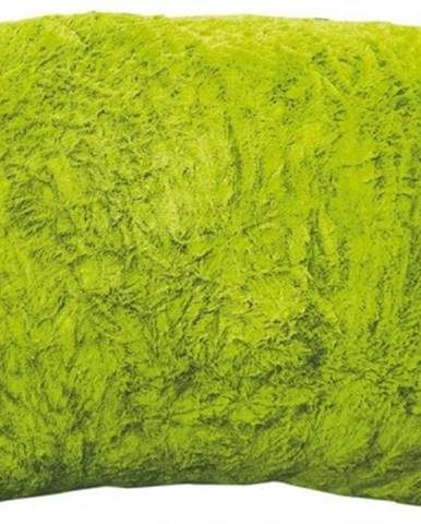 Chlpatý vankúš XL Carmina 66x66 cm, zelený%