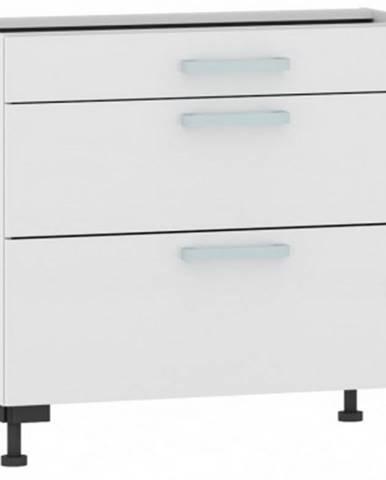 Dolná kuchynská zásuvková skrinka One ES903Z, biely lesk, šírka 90 cm%