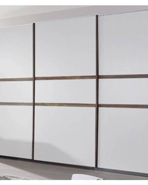 ASKO - NÁBYTOK Šatníková skriňa Bernau, 271 cm, dub stirling/biela, posuvné dvere%