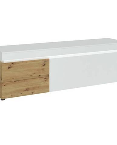TV komoda LUCI dub artisan/alpská biela, šírka 181 cm