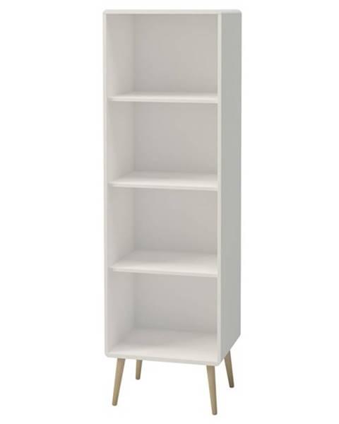Sconto Regál JOSHUA biela, 49 cm