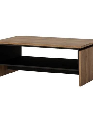 Konferenčný stolík BROLO dub catania/perleťová čierna