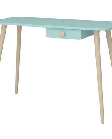 Písací stôl GENEVIE tyrkysová