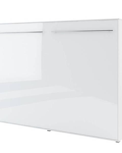 Sconto Výklopná posteľ CONCEPT PRO CP-04 biela vysoký lesk, 140x200 cm, horizontálna