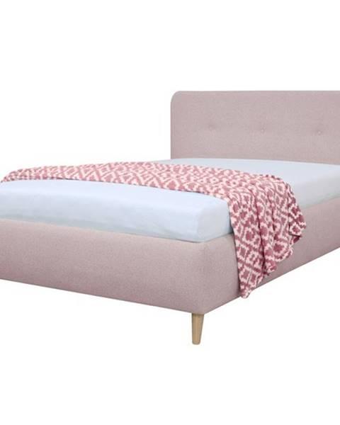 Sconto Čalúnená posteľ NOELA staroružová, 140x200