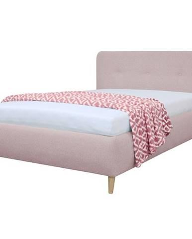 Čalúnená posteľ NOELA staroružová, 140x200