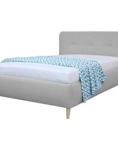Čalúnená posteľ NOELA svetlosivá, 140x200