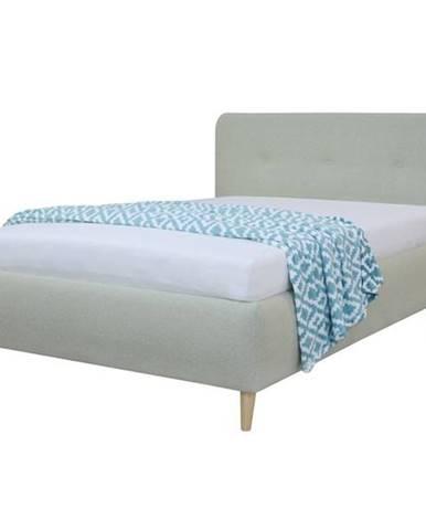 Čalúnená posteľ NOELA svetlozelená, 140x200