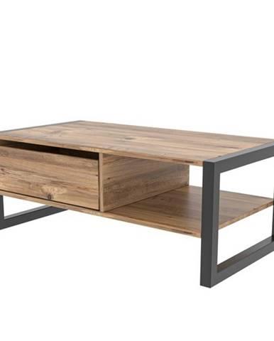 Konferenčný stolík HALDIZEN čierna/borovica