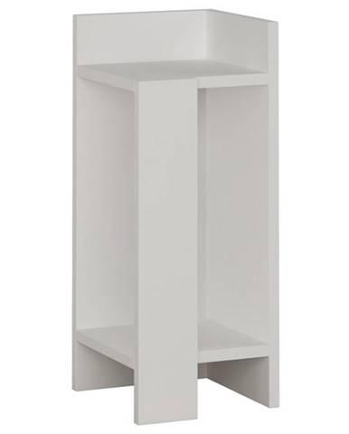 Nočný stolík ELOS biela, pravé vyhotovenie