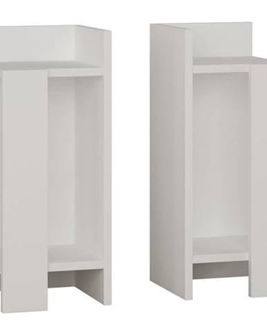 Nočný stolík ELOS biela, sada 2 kusov