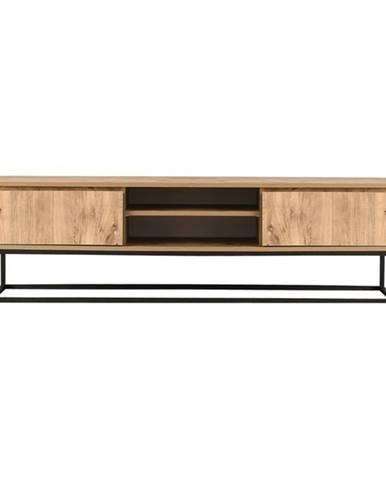 TV stolík BELINDA čierna/borovica