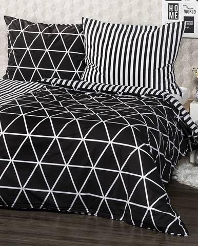 4Home Bavlnené obliečky Galaxy čierna, 220 x 200 cm, 2 ks 70 x 90 cm