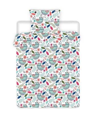 4Home Krepové obliečky Birds, 140 x 220 cm, 70 x 90 cm