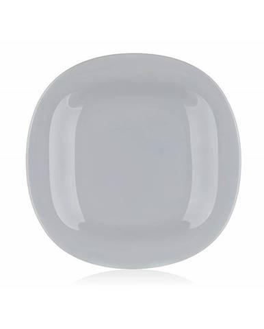Luminarc Hranatý plytký tanierCARINE 27 cm, 6 ks, sivá