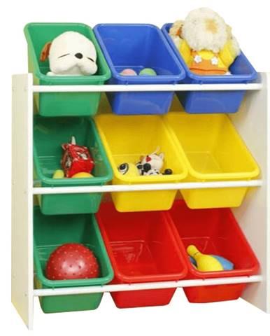 Organizér na hračky viacfarebná/biela KIDO TYP 2