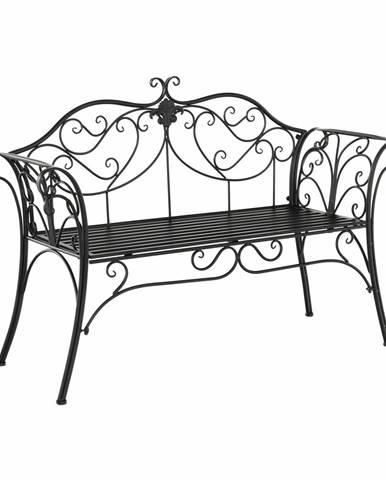 Záhradná lavička čierna ETELIA