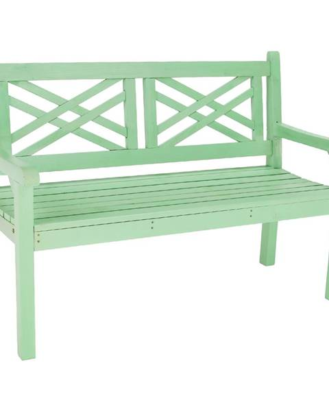 Tempo Kondela Drevená záhradná lavička neo mint 124 cm FABLA