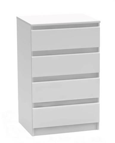 4 šuplíková komoda biela HANY NEW 014