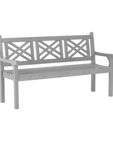 Drevená záhradná lavička sivá 150 cm FABLA