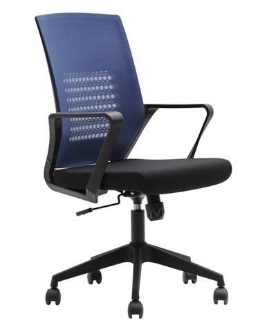 Kancelárske kreslo tmavomodrá/čierna DIXOR