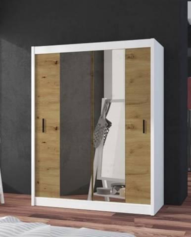 Šatníková skriňa Ragla - 120x215x61 cm