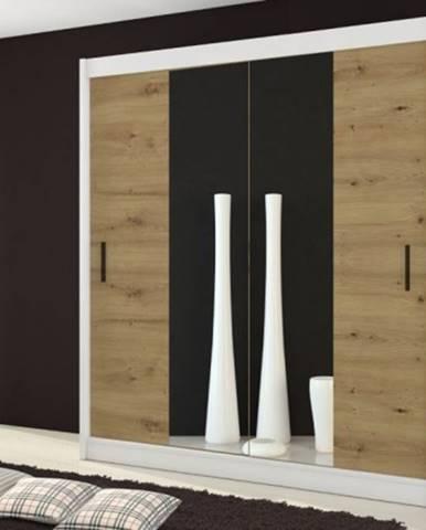 Šatníková skriňa Ragla - 180x215x61 cm