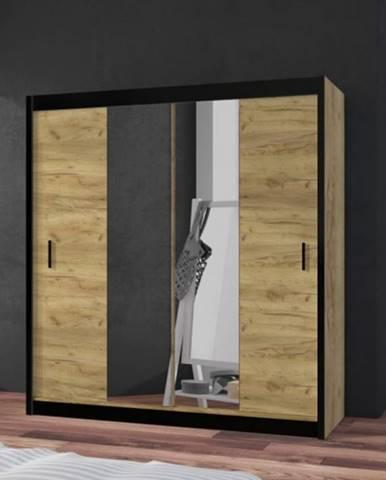 Šatníková skriňa Tofta - 180x215x61 cm