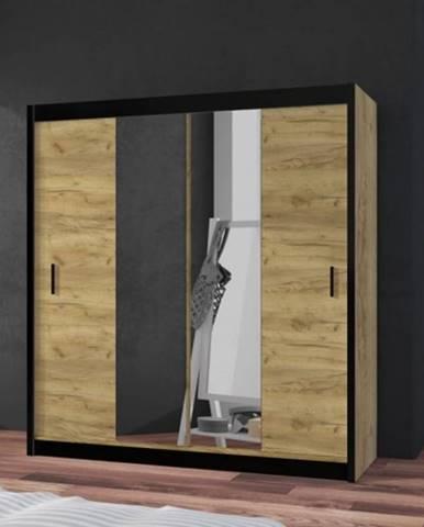 Šatníková skriňa Tofta - 203x215x61 cm