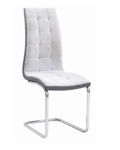 Jedálenská stolička svetlosivá/sivá/chróm SALOMA NEW
