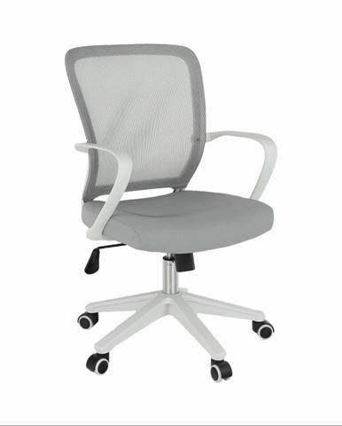 Kancelárske kreslo sivá/biela GLAM poškodený tovar