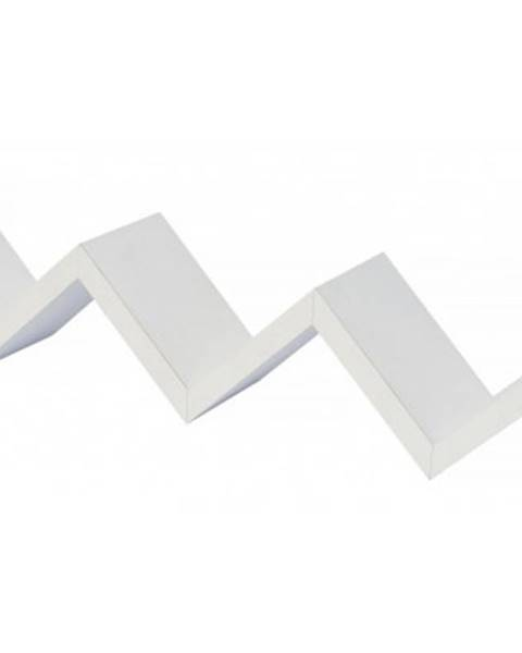 ASKO - NÁBYTOK Polica na stenu Wave, biela%