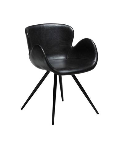 Čierna koženková stolička DAN-FORM Denmark Gaia