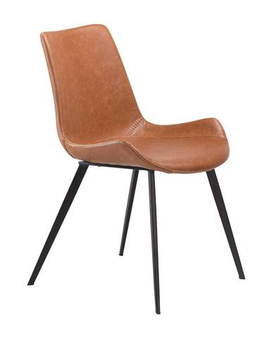 Hnedá jedálenská stolička z eko kože DAN–FORM Denmark Hype