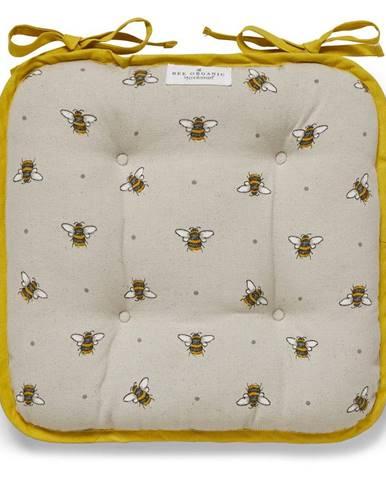 Béžovo-žltý bavlnený sedák Cooksmart ® Bumble Bees