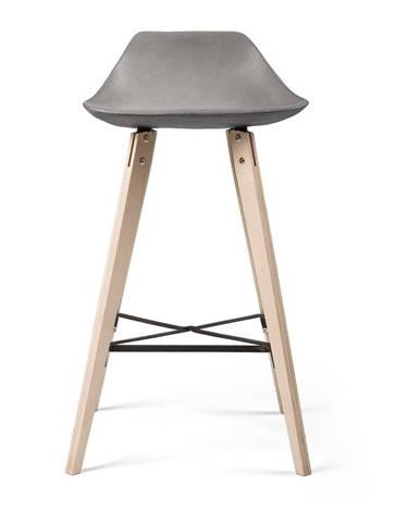 Barová stolička s betónovým sedadlom Lyon Béton Hauteville