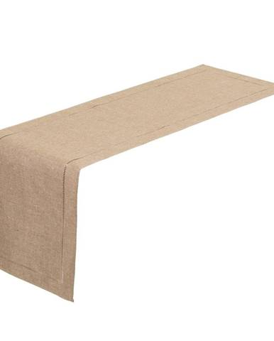 Béžový behúň na stôl Unimasa, 150 x 41 cm
