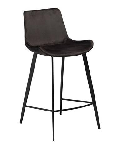 Čierna barová stolička DAN–FORM Denmark Hype Velvet, výška 91 cm