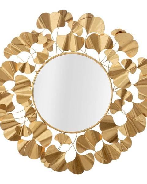 Mauro Ferretti Nástenné zrkadlo v zlatej farbe Mauro Ferretti Leaf Gold, ø 81 cm