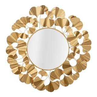 Nástenné zrkadlo v zlatej farbe Mauro Ferretti Leaf Gold, ø 81 cm