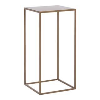 Odkladací stolík s konštrukciou v zlatej farbe Custom Form Tensio