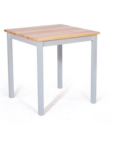 Jedálenský stôl z borovicového dreva s bielou konštrukciou loomi.design Sydney, 70 x 70 cm