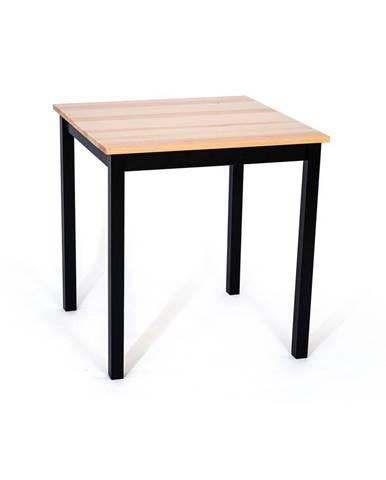 Jedálenský stôl z borovicového dreva s čiernou konštrukciou loomi.design Sydney, 70 x 70 cm