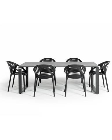 Záhradná súprava nábytku so 6 stoličkami Le Bonom Joanna Strong
