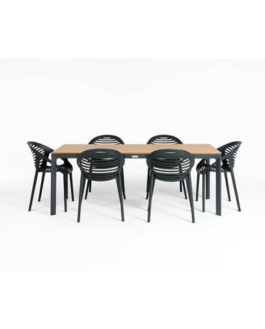 Záhradný set nábytku so 6 stoličkami Le Bonom Joanna Thor