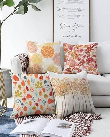Súprava 4 obliečok na vankúše Minimalist Cushion Covers Autumn Vibes, 55 x 55 cm