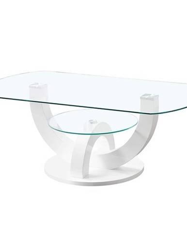 Konferenční stolek BOSTON bílá, vysoký lesk