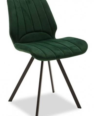Jedálenská stolička Stacy čierna, zelená