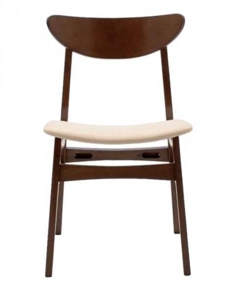 OKAY nábytok Jedálenská stolička Abbi orech, béžová