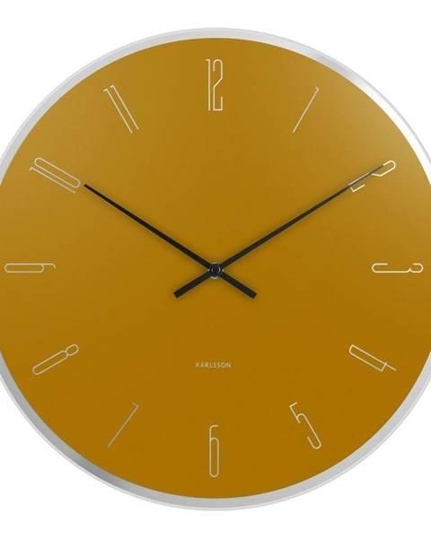 Karlsson Karlsson 5800YE dizajnové nástenné hodiny, pr. 40 cm